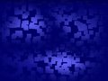 Abstract blue background broken squares design Royalty Free Stock Images