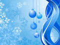 Abstract blue background with Christmas balls Stock Images