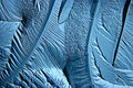 Abstract blue background cold ice texture with cracks Royalty Free Stock Photo