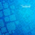 Abstract blue background cubes mosaic vector illustration Stock Photo