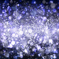 Abstract blue background with effect bokeh and light in center. Royalty Free Stock Photo