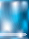 Abstract blue background with light waves Royalty Free Stock Photography