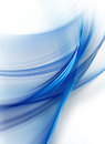 Abstract blue background with smooth lines Royalty Free Stock Image