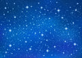 Abstract Blue background with sparkling twinkling stars. Cosmic shiny galaxy sky