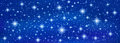 Abstract Blue banner background with sparkling twinkling stars Royalty Free Stock Photo