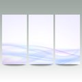Abstract blue banners set, wave vector design Royalty Free Stock Photo