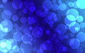 Abstract blue Bokeh circles for Christmas background Royalty Free Stock Photo