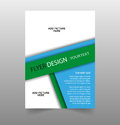 Abstract blue brochure flyer design template