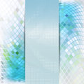 Abstract blue card or invitation template green and with warped inlay background and place for text in the center Royalty Free Stock Photography
