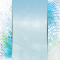 Abstract blue card or invitation template with warped inlay background and place for text in the center Stock Image
