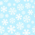 Abstract blue christmas seamless pattern background with snowflakes Stock Photo