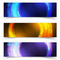 Abstract blue colorful website header or banner