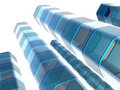 Abstract blue columns Royalty Free Stock Photo