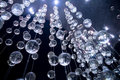 Abstract blue crystal glass balls, background Royalty Free Stock Photo