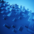 Abstract blue cubes composition wallpaper Royalty Free Stock Image
