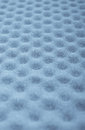 Abstract blue cusioning sponge pattern focus in the center Stock Image