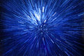 Abstract blue explosion Royalty Free Stock Photo