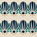 Abstract blue flower seamless pattern Royalty Free Stock Photography