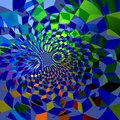 Abstract Blue Fractal Grids Ba...