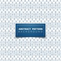 Abstract blue geometric hexagon pattern circle design background. illustration vector eps10
