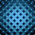 Abstract blue geometrical background. 3D render