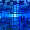 Abstract blue glass background Stock Photo
