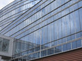 Abstract blue glass facade modern business center building Royalty Free Stock Photo