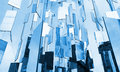 Abstract blue glass mirrors background above the sky Royalty Free Stock Photo