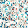 Abstract blue glass triangles seamless with grunge effect Stock Photos