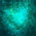 Abstract blue and green background with triangles