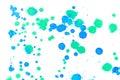 Abstract blue green ink splash