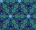 Abstract blue green seamless pattern with elements like as flower or six rays snowflake pattern can be used as wallpaper web page Royalty Free Stock Images