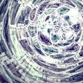 Abstract blue green tunnel pattern background Royalty Free Stock Photo