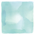 Abstract blue and green watercolor on white background