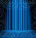 Abstract blue grid space Royalty Free Stock Images