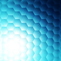 Abstract blue hexagon background Royalty Free Stock Photography