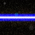 Abstract blue laser beam. Isolated on black background. Vector i Royalty Free Stock Photo
