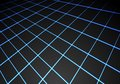 Abstract blue light line mesh perspective on black technology background vector Royalty Free Stock Photo