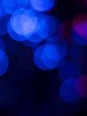 Abstract blue lights on black background Stock Photo