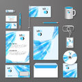 Abstract blue lines corporate identity template. Vector company style for brandbook and guideline Royalty Free Stock Photo
