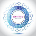 Abstract blue medical laboratory element. Royalty Free Stock Photography