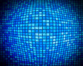 Abstract blue mosaic with the effect of of inflating squares Royalty Free Stock Photo