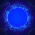 Abstract blue mystic lace background with swirl Royalty Free Stock Photo