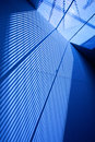 Abstract blue part of modern interior with transparent ceiling Royalty Free Stock Images