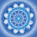 Abstract blue pattern, mandala Stock Images
