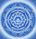 Abstract blue pattern, mandala Royalty Free Stock Photos