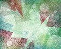 Abstract blue red and green background design with modern art style layers of geometric shapes and triangles with texture