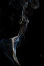 Abstract blue smoke from aromatic sticks. Royalty Free Stock Photo