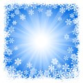Abstract blue snowflake background vector illustration of a Stock Photos