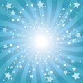 Abstract blue star background Stock Photo